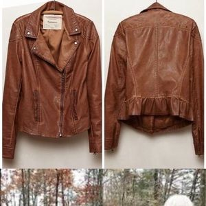 Anthropologie Fayetteville Vegan Leather Jacket